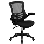 Mid-Back Mesh Chair with Nylon Base, Black